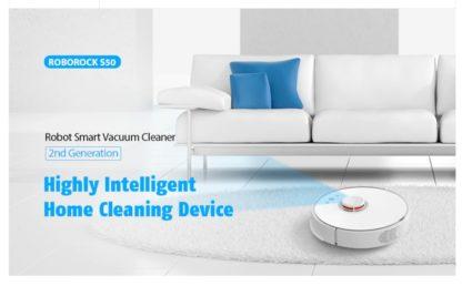 Робот-пылесос Xiaomi Roborock S50 Smart Robot Vacuum Cleaner
