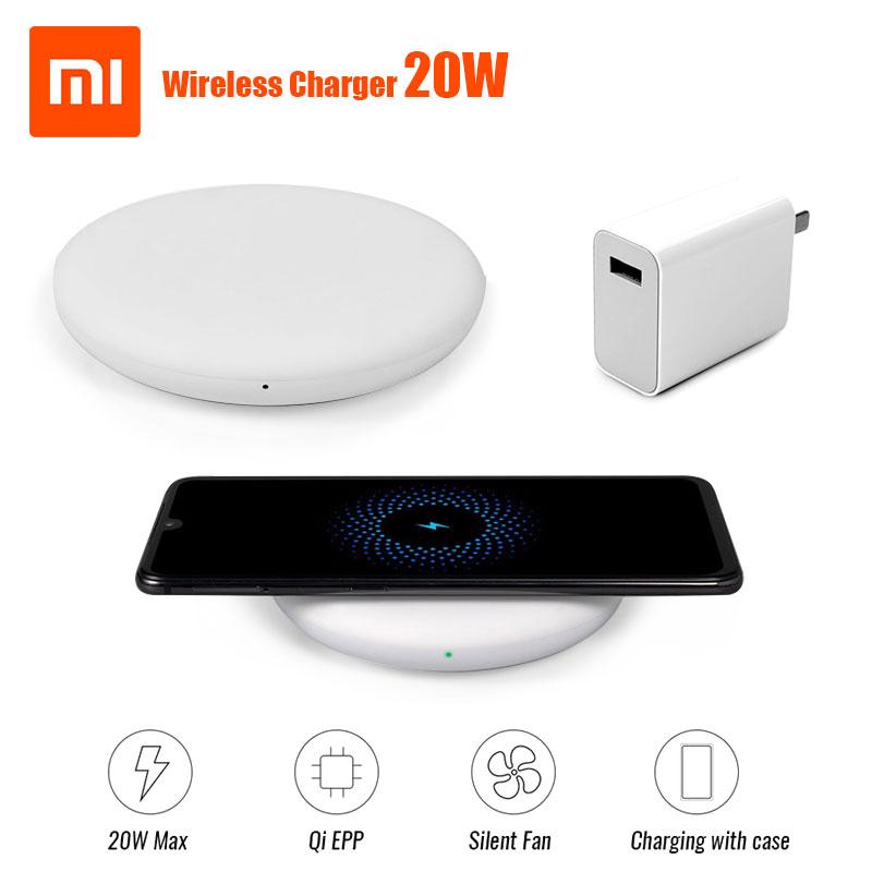 27 Вт штекер Оригинальное Беспроводное зарядное устройство Xiaomi 20 Вт Max 15 в применяется к Xiaomi Mi9 MiX 2 S Mix 3 Qi EPP10W для iPhone XS XR XS MAX
