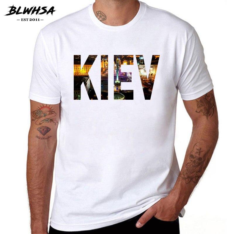 BLWHSA Kiev City Футболка мужская Модная хлопковая футболка с короткими рукавами и принтом букв Забавные футболки для мужчин в Киеву, Украина