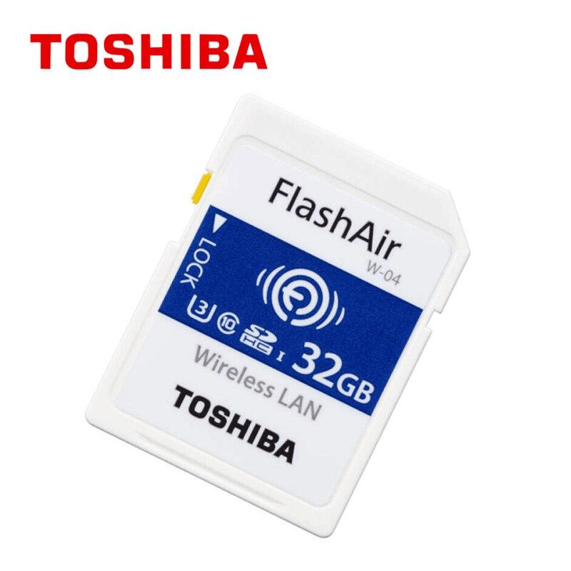 Лидер продаж оптовая продажа Flash Air W-04 карта памяти 32 Гб Wi-Fi sd-карта Беспроводная SDHC карта памяти SD wifi SD для камеры Бесплатная доставка