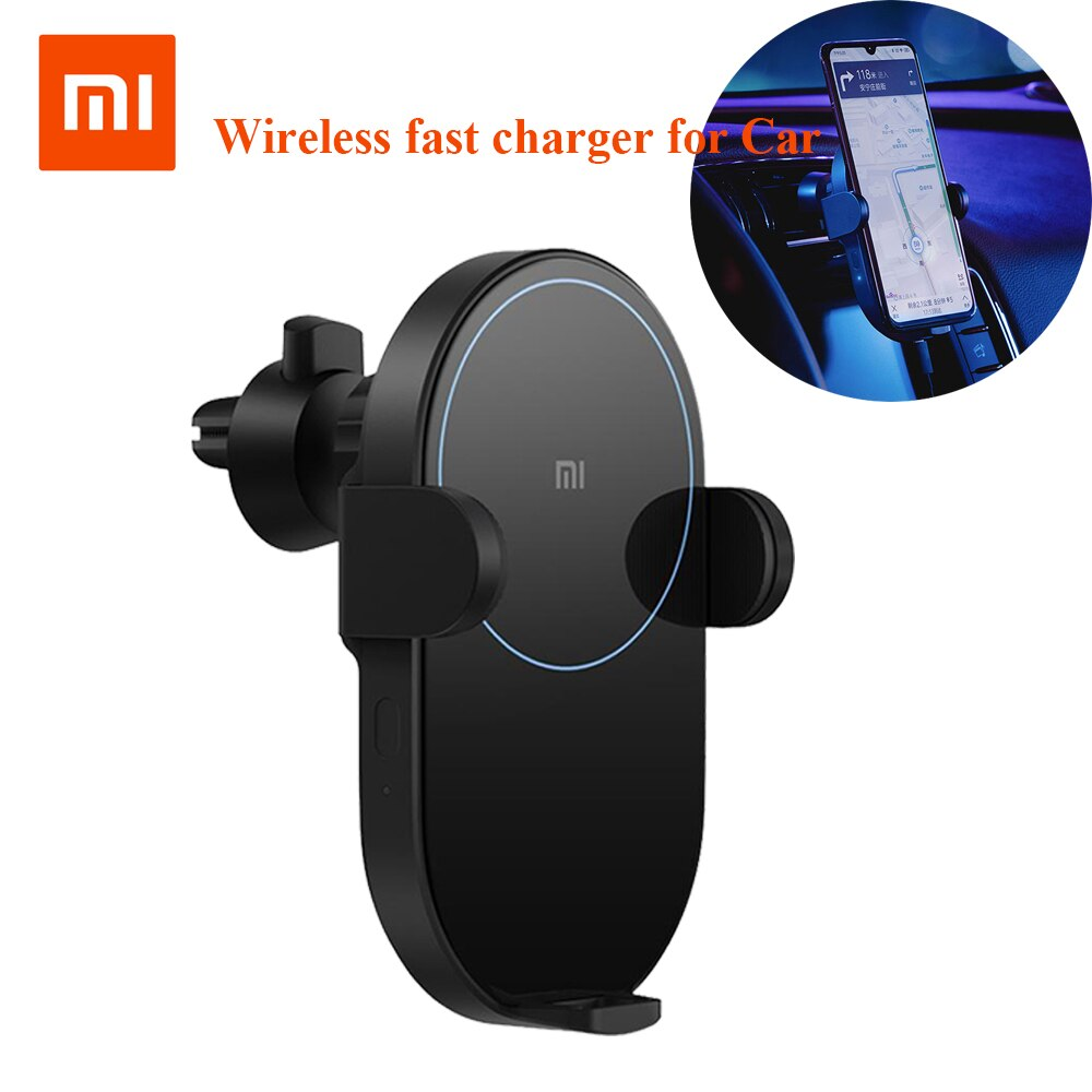 Оригинальное беспроводное автомобильное зарядное устройство Xiao mi jia 20 Вт Max Electric Auto Pinch 2.5D glass Ring Lit для mi 9 (20 Вт) mi X 2 S/3 (10 Вт) Qi 3