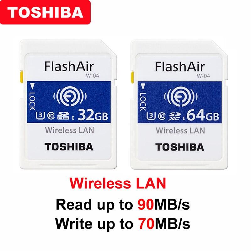 TOSHIBA Flash Air W-04 карта памяти 32 Гб 64 Гб wifi SD карта 90 МБ/с./с. Беспроводная LAN Карта памяти Tarjeta sd wifi sd-карта для камеры