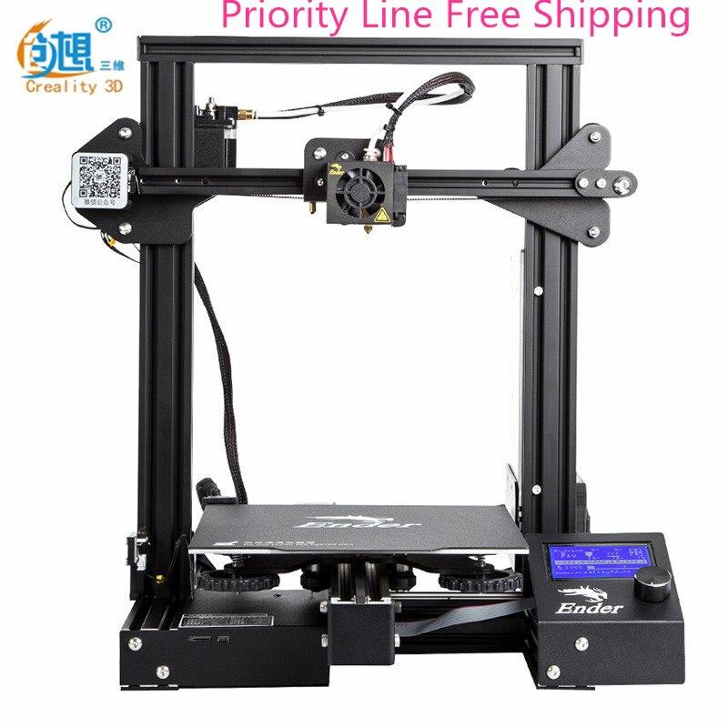 2018 Creality 3D Ender-3 pro Высокоточный 3d принтер DIY набор стальная рамка ЖК простой метод выравнивания Megnetic горячие наклейки для кровати
