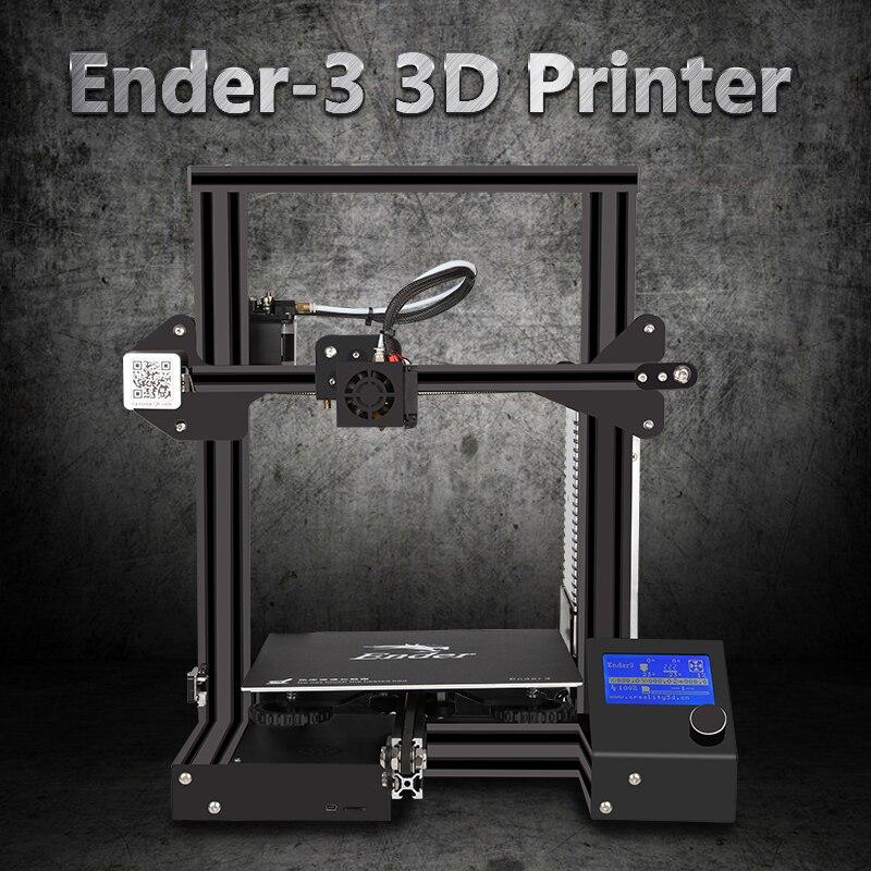 CheapDIY 3d принтер Creality Ender3/Ender-3S/Pro модернизированное закаленное стекло опционально, V-slot возродить сбой питания мягкая сборная кровать