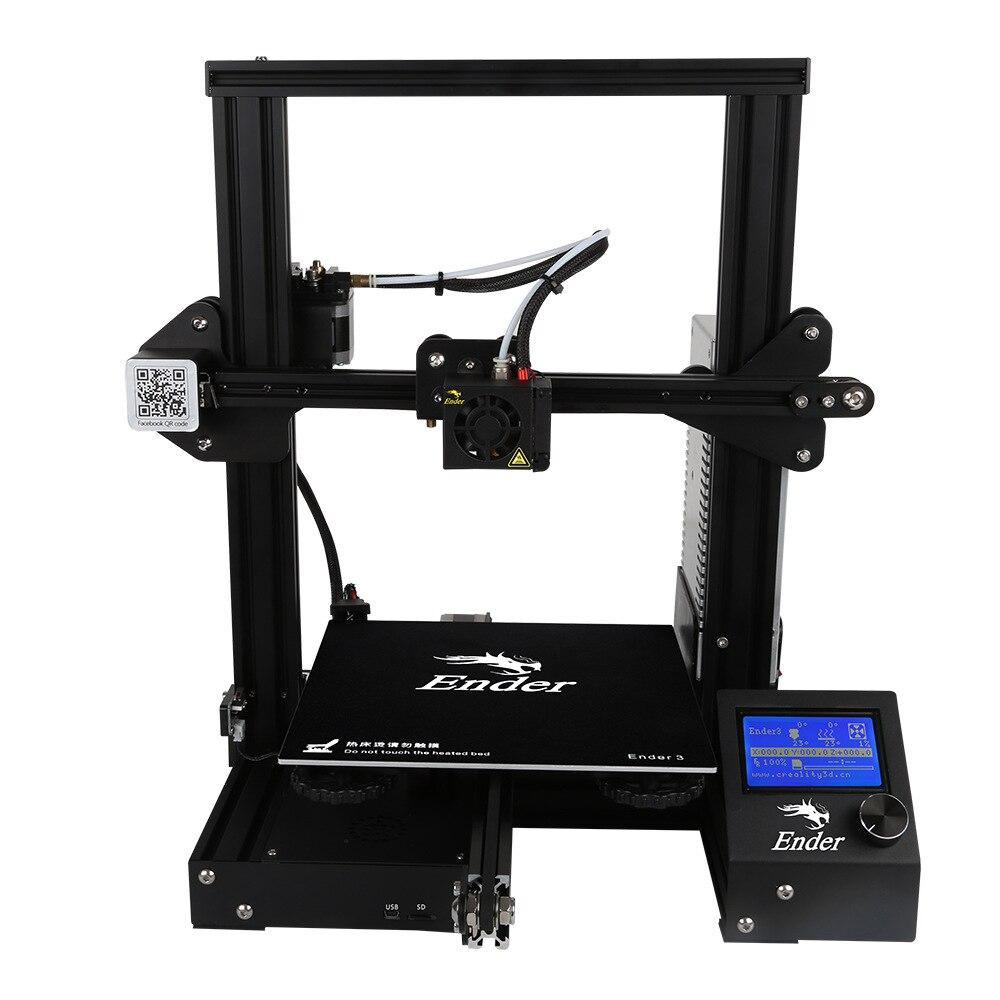 Creality 3D Ender-3 3D принтер DIY Kit 220*220*250 Печать V-slot большой размер 180 мм/сек. I3 мини принтер 3D печать