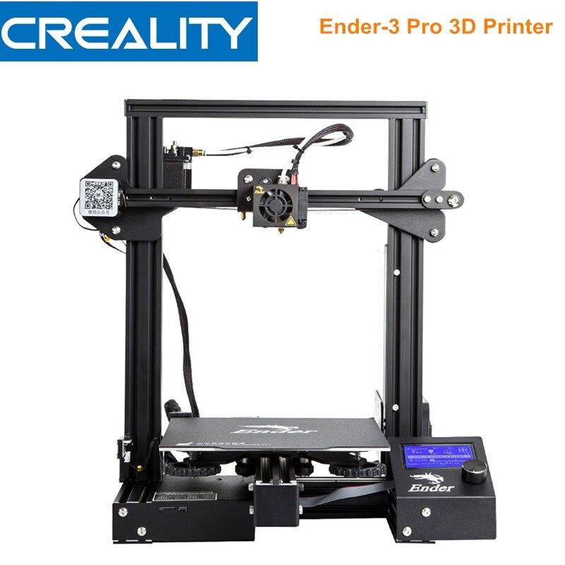 Creality 3D Ender-3 Pro 3d принтер DIY Набор Высокоточный стальной каркас ЖК-дисплей 220*220*250 мм 3d принтер средняя мощность питания
