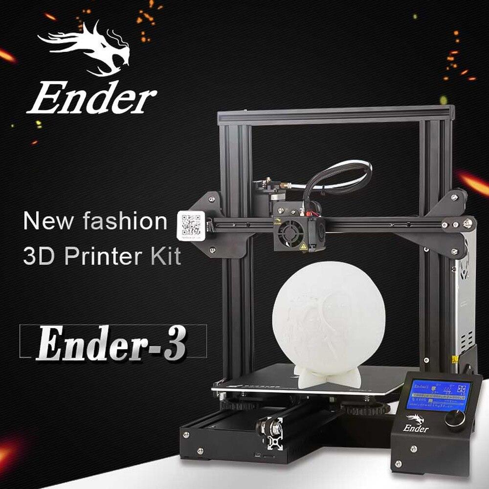 Creality 3D Ender-3 Высокоточный DIY 3D-принтеры самостоятельно собрать 220*220*250 мм печати Размеры с резюме печати Функция