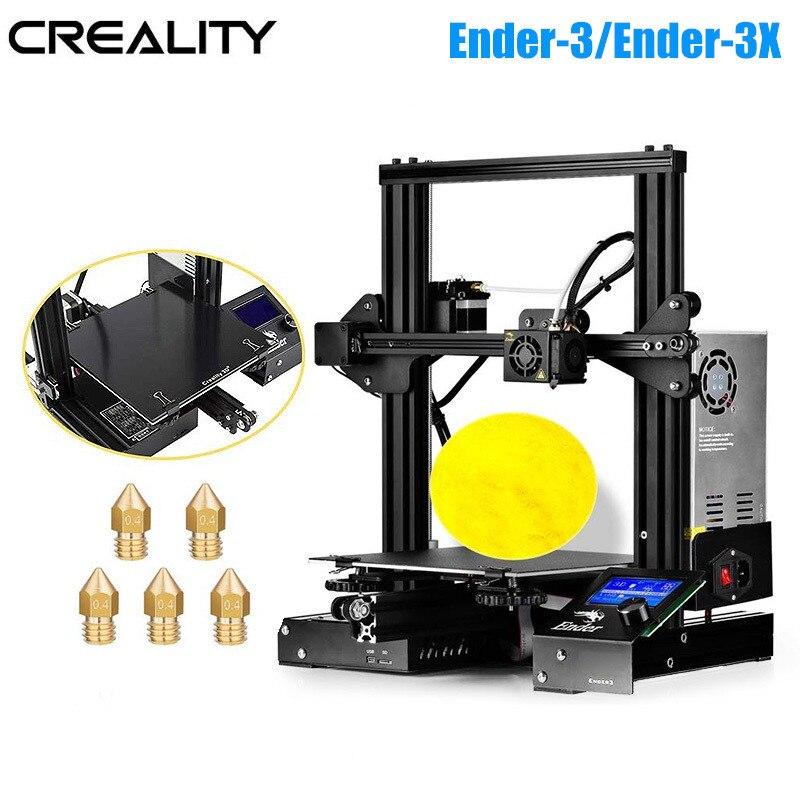 Creality 3D Ender-3/Ender-3X V-slot Prusa I3 DIY 3D-принтеры комплект 220x220x250 мм MK8 экструдер 1,75 мм 0,4 мм сопло печати DIY Kit