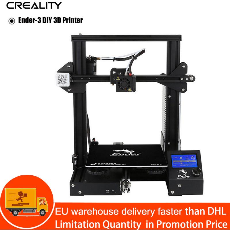 Creality Ender-3 Настольный 3D-принтеры Комплект V-Slot Prusa I3 DIY принтер 220x220x250 мм MK8 экструдер 1,75 мм 0,4 мм сопло печать
