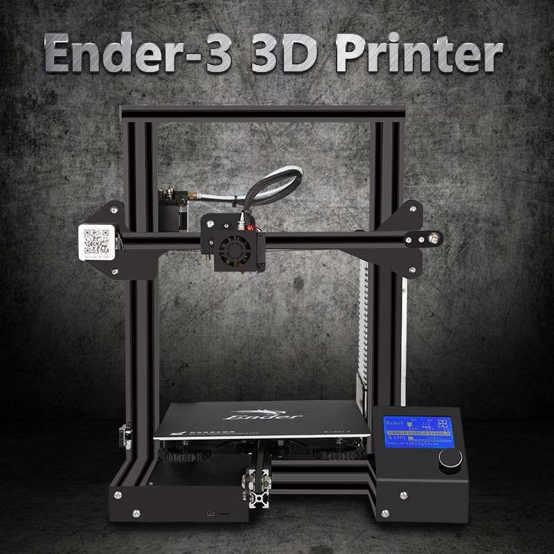 Creality Ender-3 V-образными пазами I3 3D-принтеры комплект FDM Технология MK10 экструдер 1,75 мм 0,4 мм сопло 220x220x250 мм Размеры 3D-принтеры