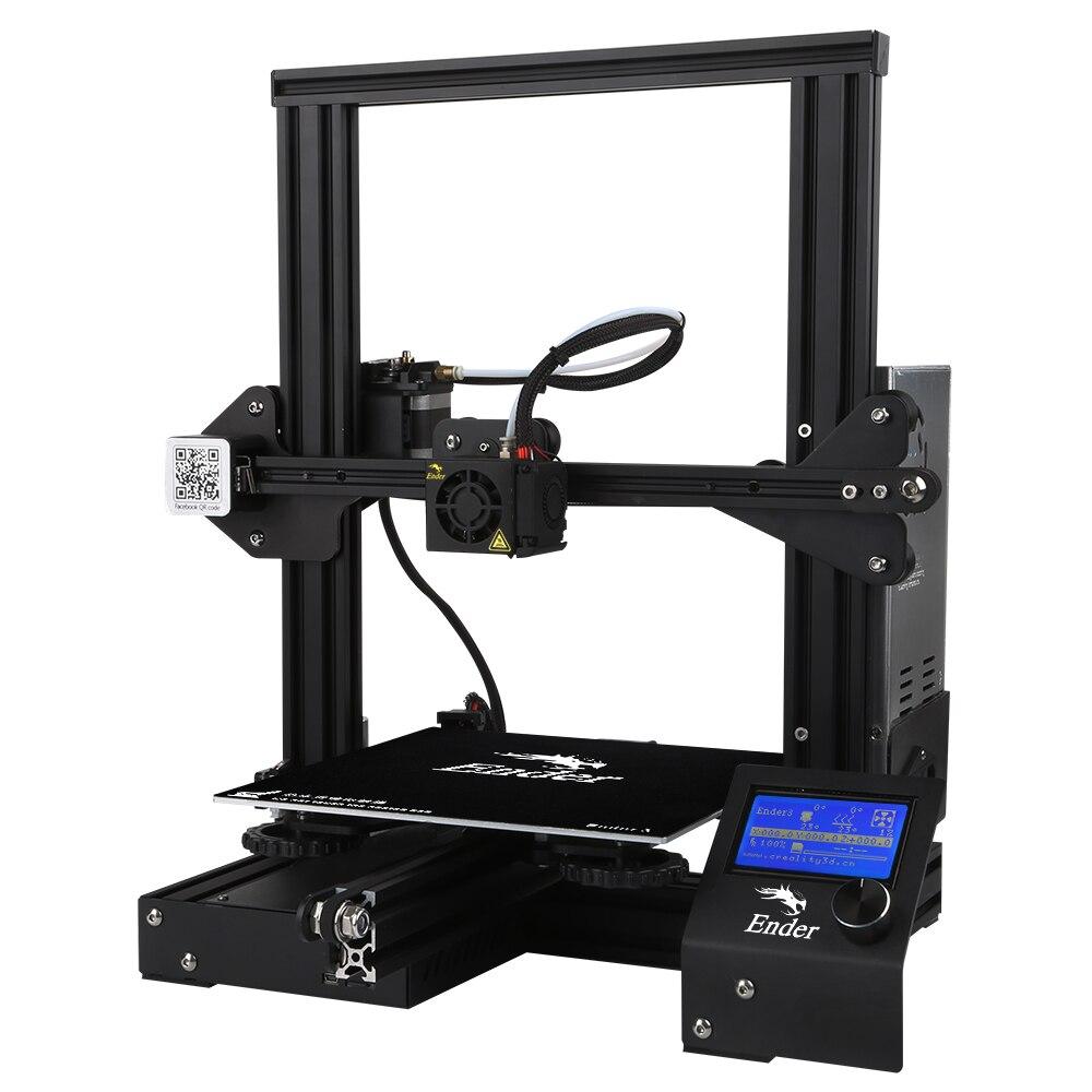 Creality3D Эндер-3 V-слот Prusa I3 DIY 3D-принтеры комплект 220x220x250 мм с MK10 экструдер 1,75 мм 0,4 мм Насадка