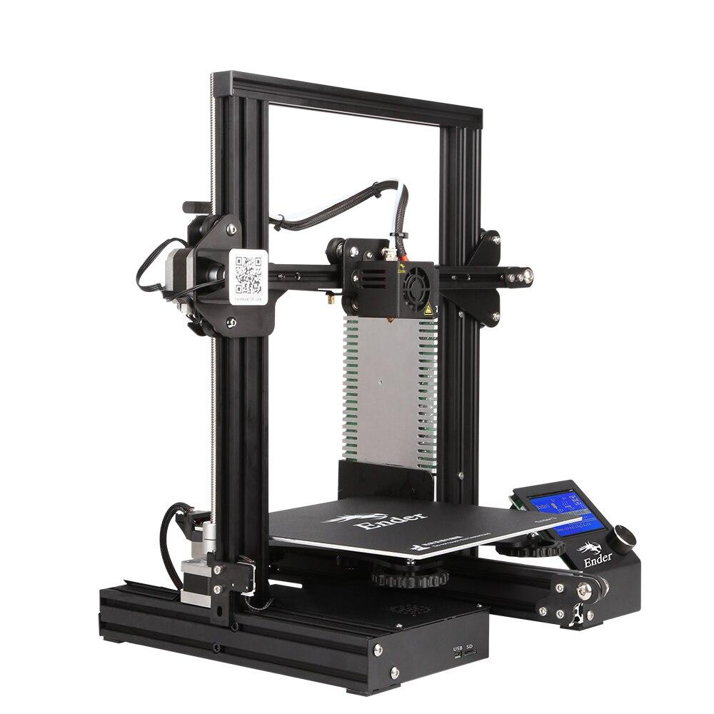 Новейший Ender-3 DIY комплект 3D принтер большой размер I3 мини Эндер 3 принтер 3D печать мощность Creality Ender-3