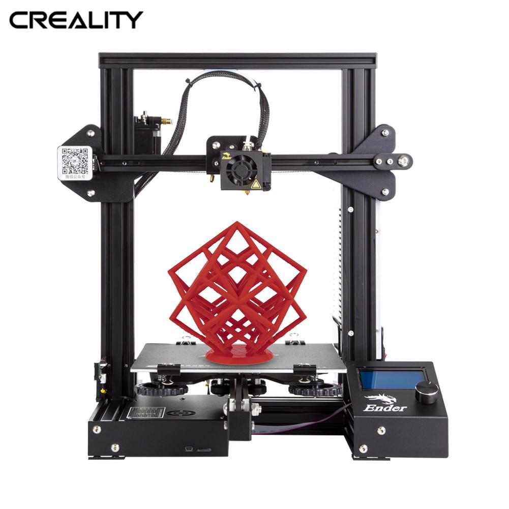 Полностью металлический CREALITY 3D Ender-3/Ender-3X/Ender-3 профессиональный принтер с волшебной конструкцией пластины обновления видения v-слот 3d принте...