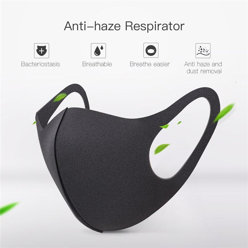 100 шт. черная маска для рта Питта дышащая унисекс Губка Маска для лица многоразовая защита от загрязнения лица ветрозащитная Крышка для рта
