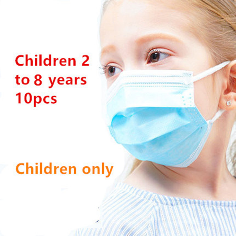 3-слойная одноразовая маска для детей и взрослых Пылезащитная маска для лица