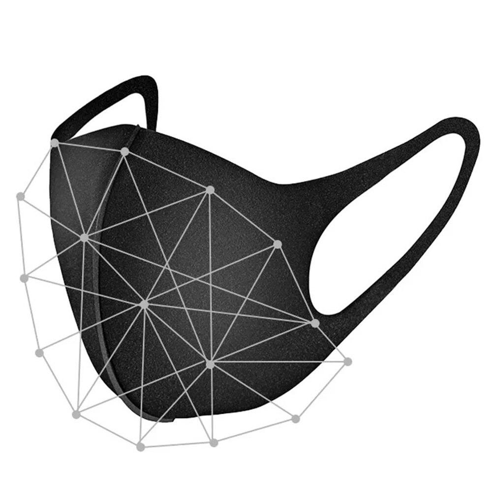 Уличная спортивная защитная маска без запаха для верховой езды Пыленепроницаемая и противотуманная маска Питта Губка черная 1 шт.